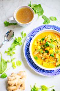 Curry gesundes Abendessen